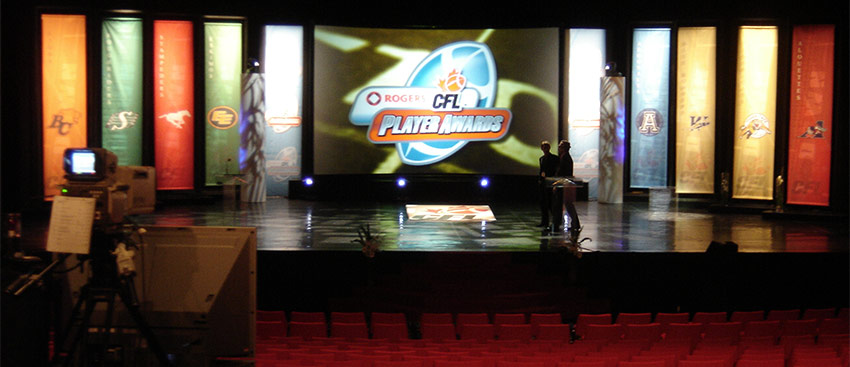 CFL Player Awards Curved Screen