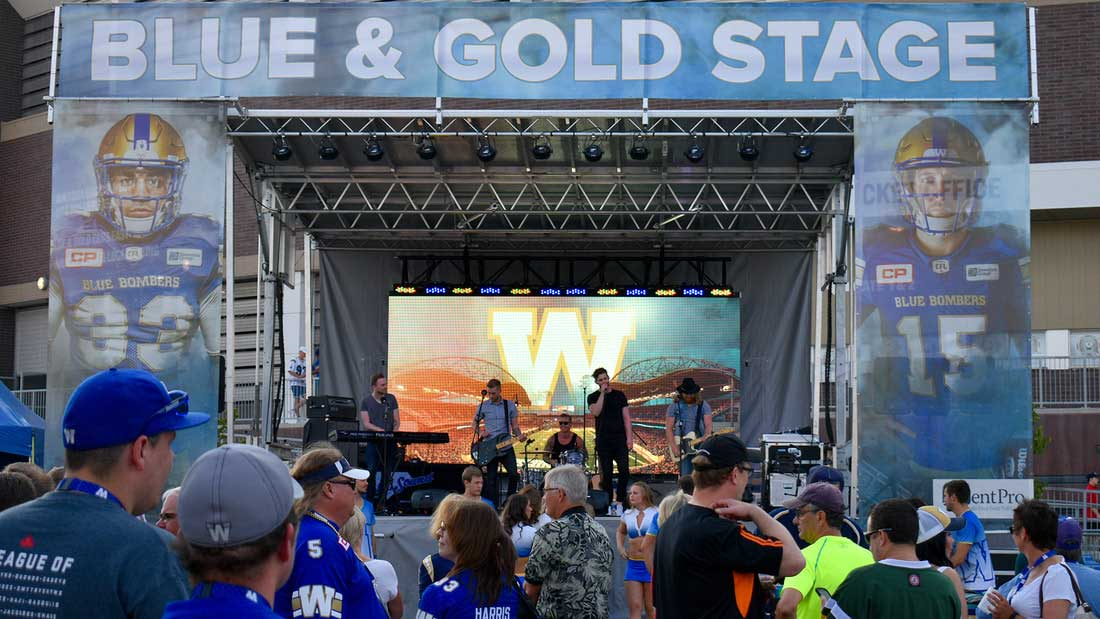 blue gold band