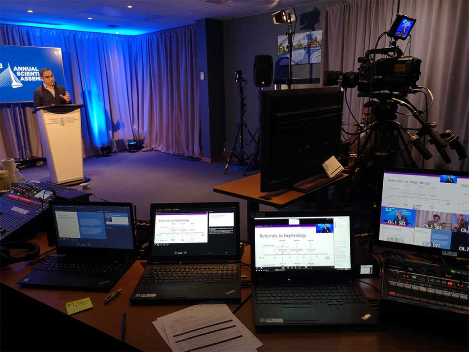 Live broadcast virtual events